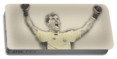 Iker Casillas  Portable Battery Charger by Don Kuing