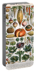 Illustration Of Vegetable Varieties Portable Battery Charger by Alillot