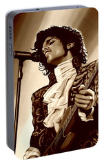 Prince The Artist Portable Battery Charger by Paul Meijering