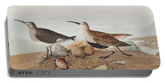 Red Backed Sandpiper Portable Battery Charger by John James Audubon