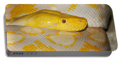 Albino Reticulated Python Portable Battery Charger by Gerard Lacz