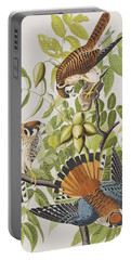 American Sparrow Hawk Portable Battery Charger by John James Audubon