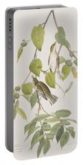 Autumnal Warbler Portable Battery Charger by John James Audubon