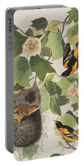 Baltimore Oriole Portable Battery Charger by John James Audubon
