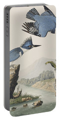 Belted Kingfisher Portable Battery Charger by John James Audubon
