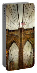 Brooklyn Bridge Twilight Portable Battery Charger by Jessica Jenney