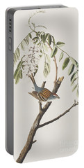 Chipping Sparrow Portable Battery Charger by John James Audubon