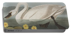 Common American Swan Portable Battery Charger by John James Audubon