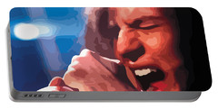 Eddie Vedder Portable Battery Charger by Gordon Dean II