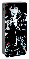 Elvis Portable Battery Charger by Luis Ludzska