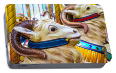 Goat Carrousel Ride Portable Battery Charger by Garry Gay