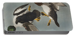 Golden-eye Duck  Portable Battery Charger by John James Audubon
