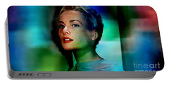 Grace Kelly Portable Battery Charger by Marvin Blaine