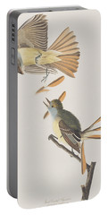 Great Crested Flycatcher Portable Battery Charger by John James Audubon
