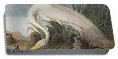 Great Egret Portable Battery Charger by John James Audubon