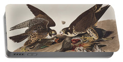 Great-footed Hawk Portable Battery Charger by John James Audubon