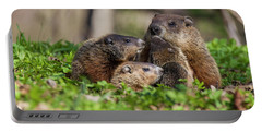 Happy Family Portable Battery Charger by Mircea Costina Photography
