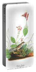 Henslow's Bunting  Portable Battery Charger by John James Audubon