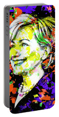 Hillary Clinton Portable Battery Charger by Svelby Art