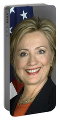 Hillary Clinton Portable Battery Charger by War Is Hell Store
