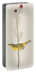 Hooded Warbler Portable Battery Charger by John James Audubon