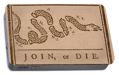 Join Or Die Portable Battery Charger by War Is Hell Store