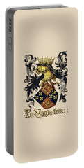 King Of England Coat Of Arms - Livro Do Armeiro-mor Portable Battery Charger by Serge Averbukh