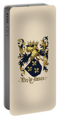 King Of France Coat Of Arms - Livro Do Armeiro-mor  Portable Battery Charger by Serge Averbukh