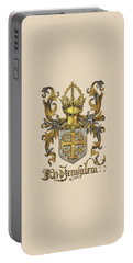 Kingdom Of Jerusalem Coat Of Arms - Livro Do Armeiro-mor Portable Battery Charger by Serge Averbukh