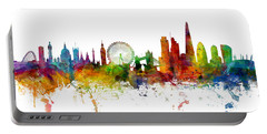 London England Skyline Panoramic Portable Battery Charger by Michael Tompsett