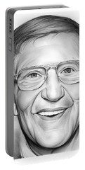 Lou Holtz Portable Battery Charger by Greg Joens