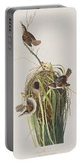 Marsh Wren  Portable Battery Charger by John James Audubon