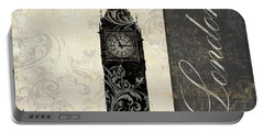 Moon Over London Portable Battery Charger by Mindy Sommers