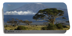 Mount Kilimanjaro Portable Battery Charger by Michele Burgess