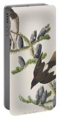 Olive Sided Flycatcher Portable Battery Charger by John James Audubon