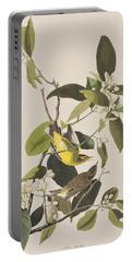 Palm Warbler Portable Battery Charger by John James Audubon