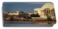 Panoramic View Of Jefferson Memorial Portable Battery Charger by Panoramic Images