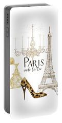 Paris - Ooh La La Fashion Eiffel Tower Chandelier Perfume Bottle Portable Battery Charger by Audrey Jeanne Roberts