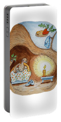 Peter Rabbit And His Dream Portable Battery Charger by Irina Sztukowski