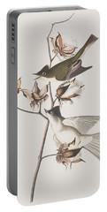 Pewit Flycatcher Portable Battery Charger by John James Audubon
