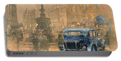Phantom In Piccadilly  Portable Battery Charger by Peter Miller