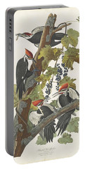 Pileated Woodpecker Portable Battery Charger by John James Audubon