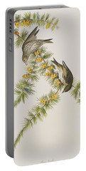 Pine Finch Portable Battery Charger by John James Audubon