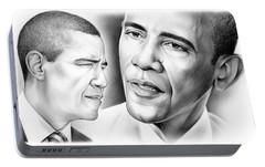 President Barack Obama Portable Battery Charger by Greg Joens