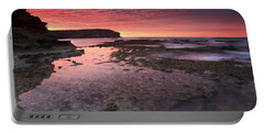 Red Sky At Morning Portable Battery Charger by Mike  Dawson