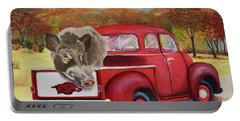 Ridin' With Razorbacks 2 Portable Battery Charger by Belinda Nagy