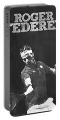 Roger Federer Portable Battery Charger by Semih Yurdabak