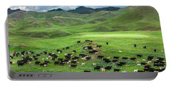 Salt And Pepper Pasture Portable Battery Charger by Todd Klassy