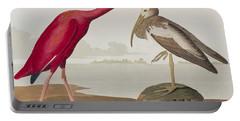 Scarlet Ibis Portable Battery Charger by John James Audubon