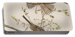 Song Sparrow Portable Battery Charger by John James Audubon